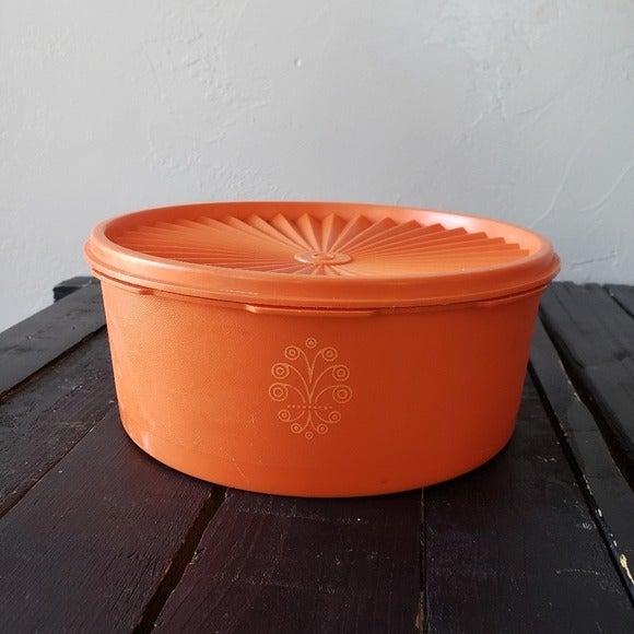 Vintage Tupperware Harvest Orange Storag