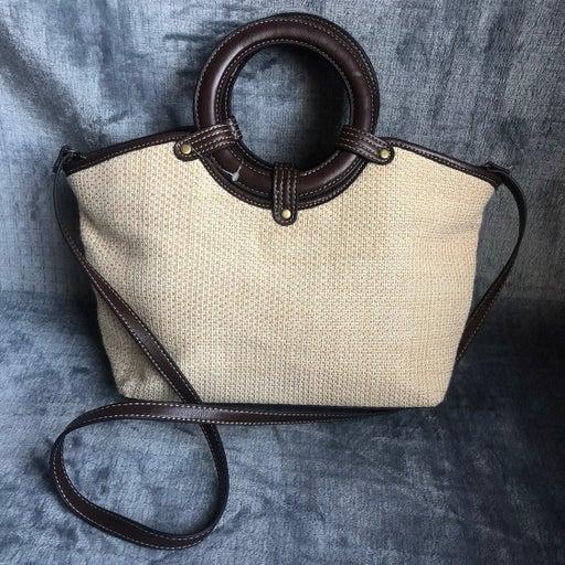 Croft & Barrow Woven Convertible Handbag