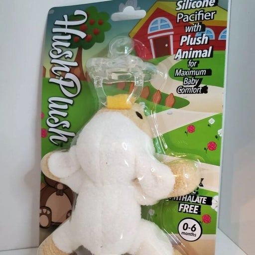 Baby Lamb Binky holder plush