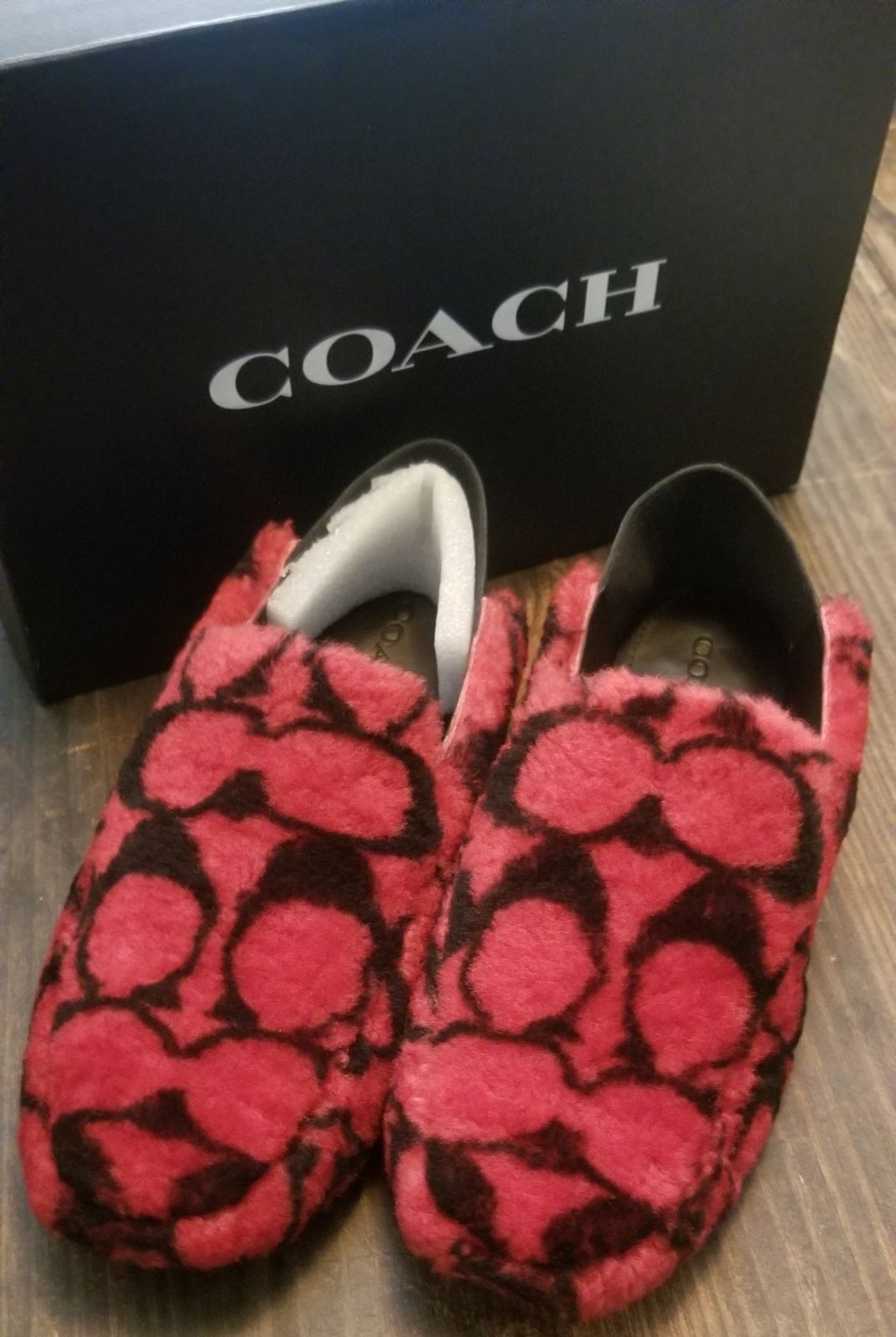 COACH Womens Holly Shearling Slipper/ Mu