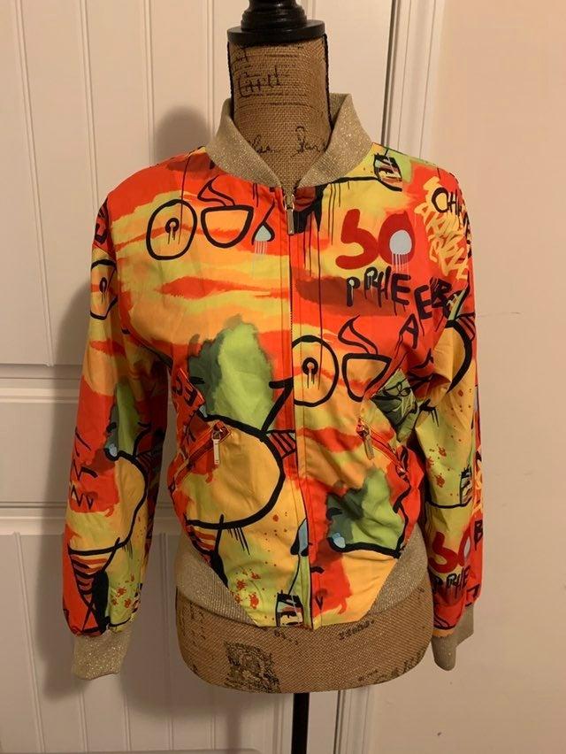 Graffiti Multicolor Bomber Jacket