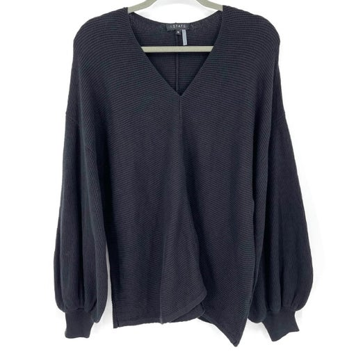 1. State Ribbed Balloon Sleeve Sweater