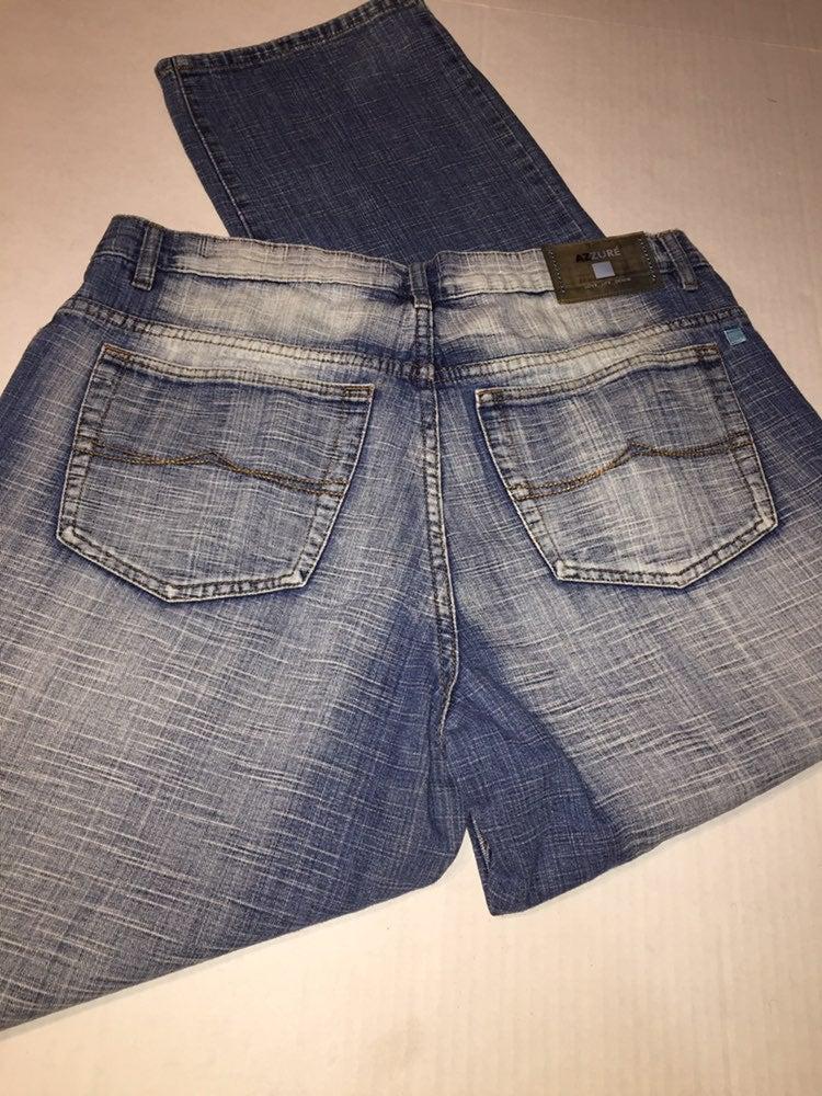 Mens Azzure Blue Jeans 36x34