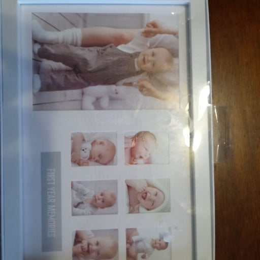 Babys first year picture frame