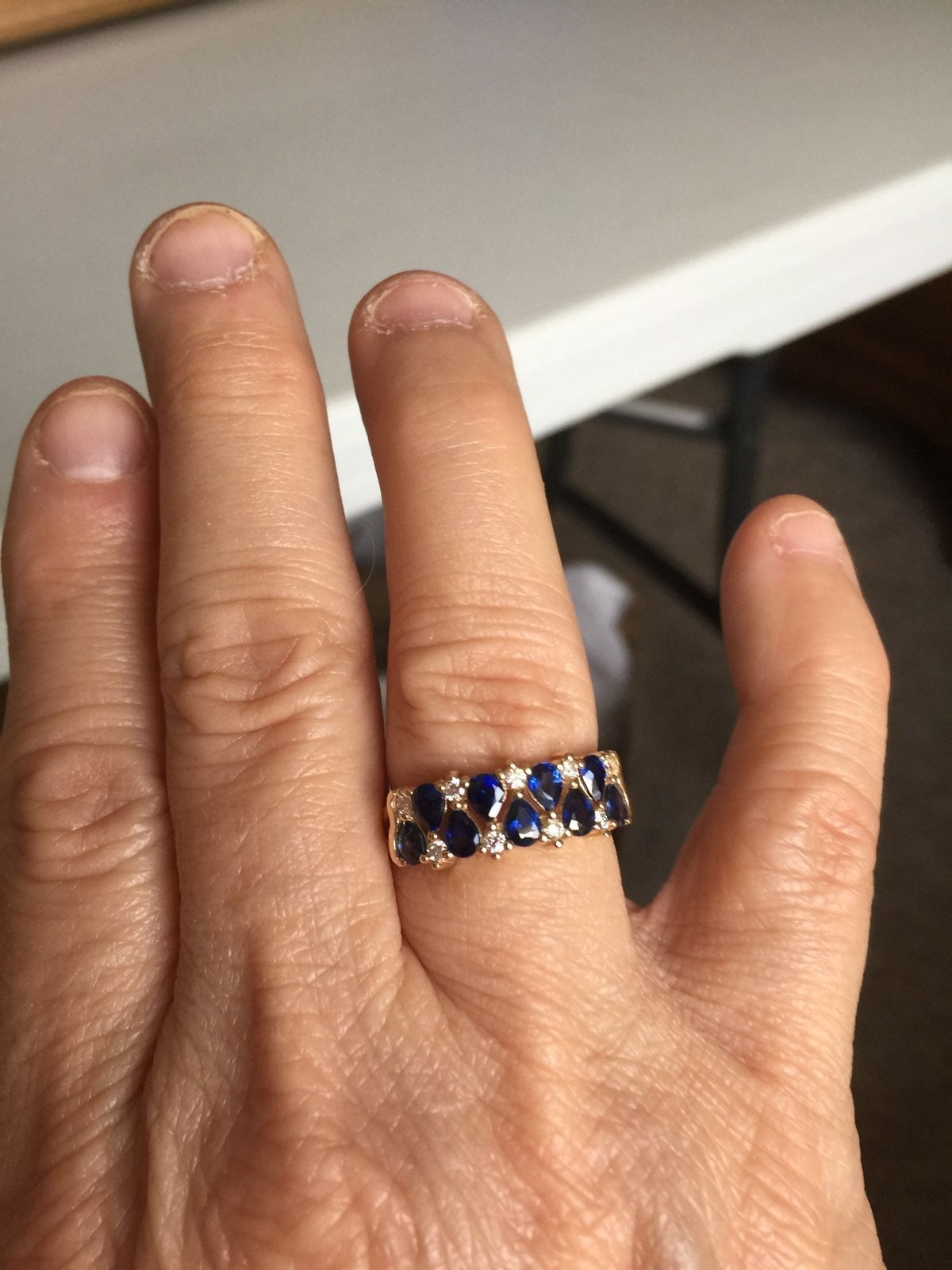 Sapphire And Diamond Ring FOR ZAP
