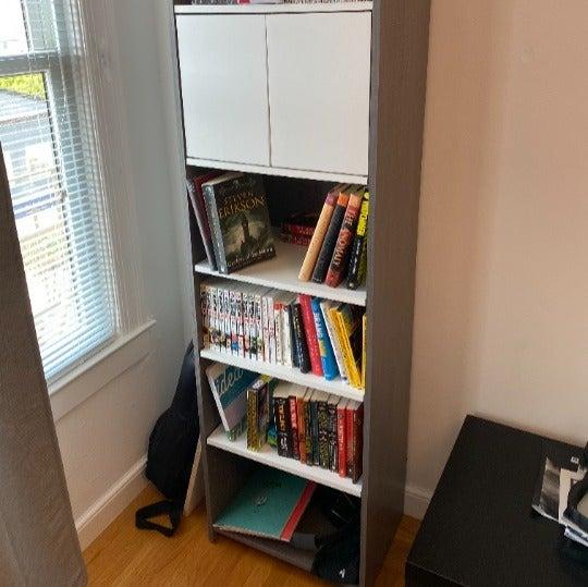 Grey/White BESTAR Bookshelf