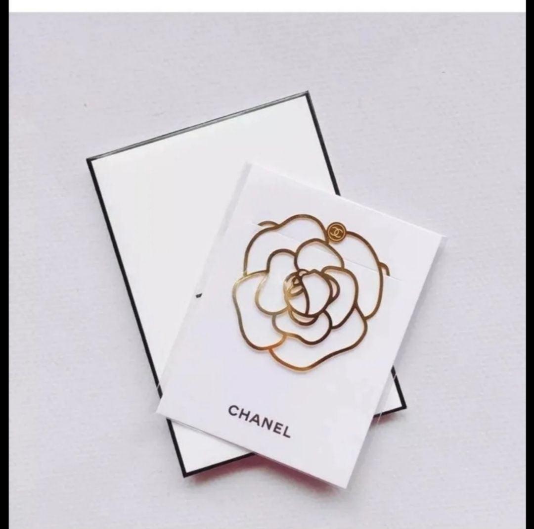 authentic chanel camellia bookmark