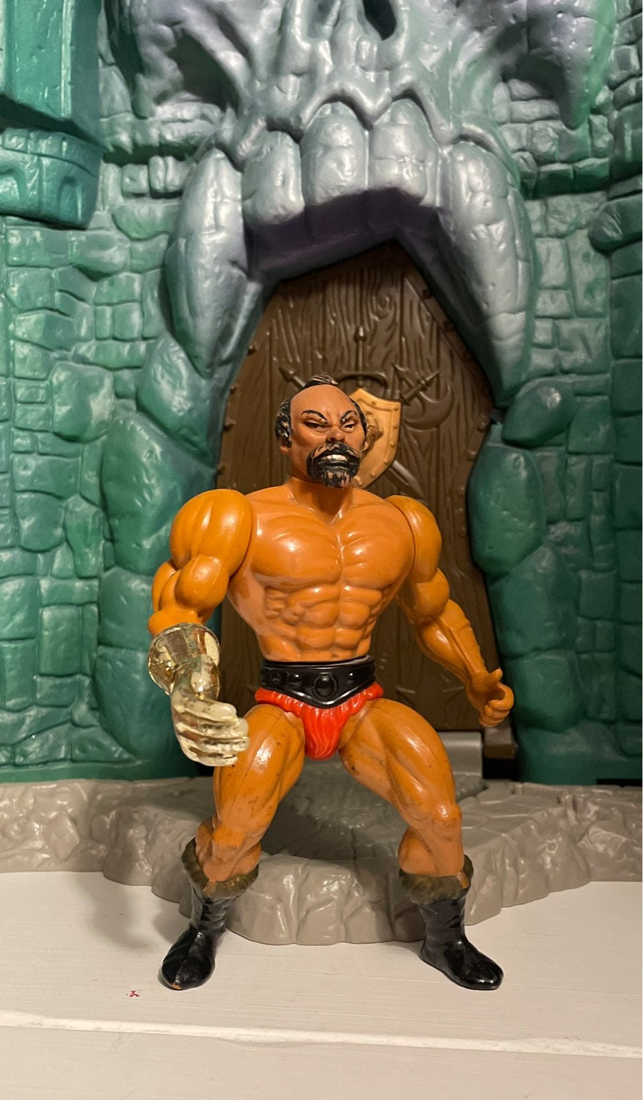 MOTU Jitsu Gold Hand Mattel He-Man 1983
