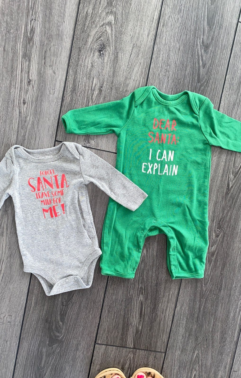Christmas romper and onesie