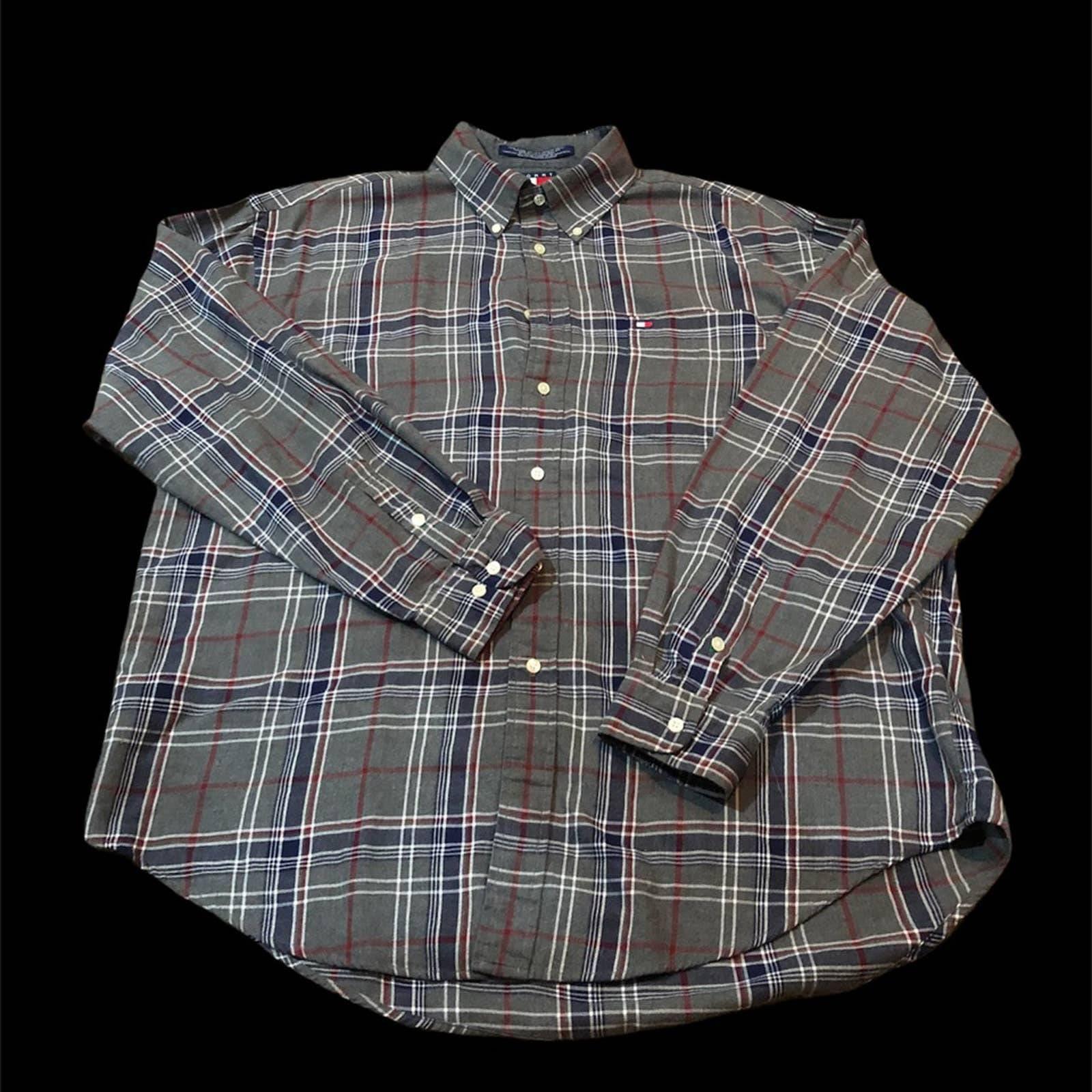 80s Tommy Hilfiger Plaid Flannel shirt