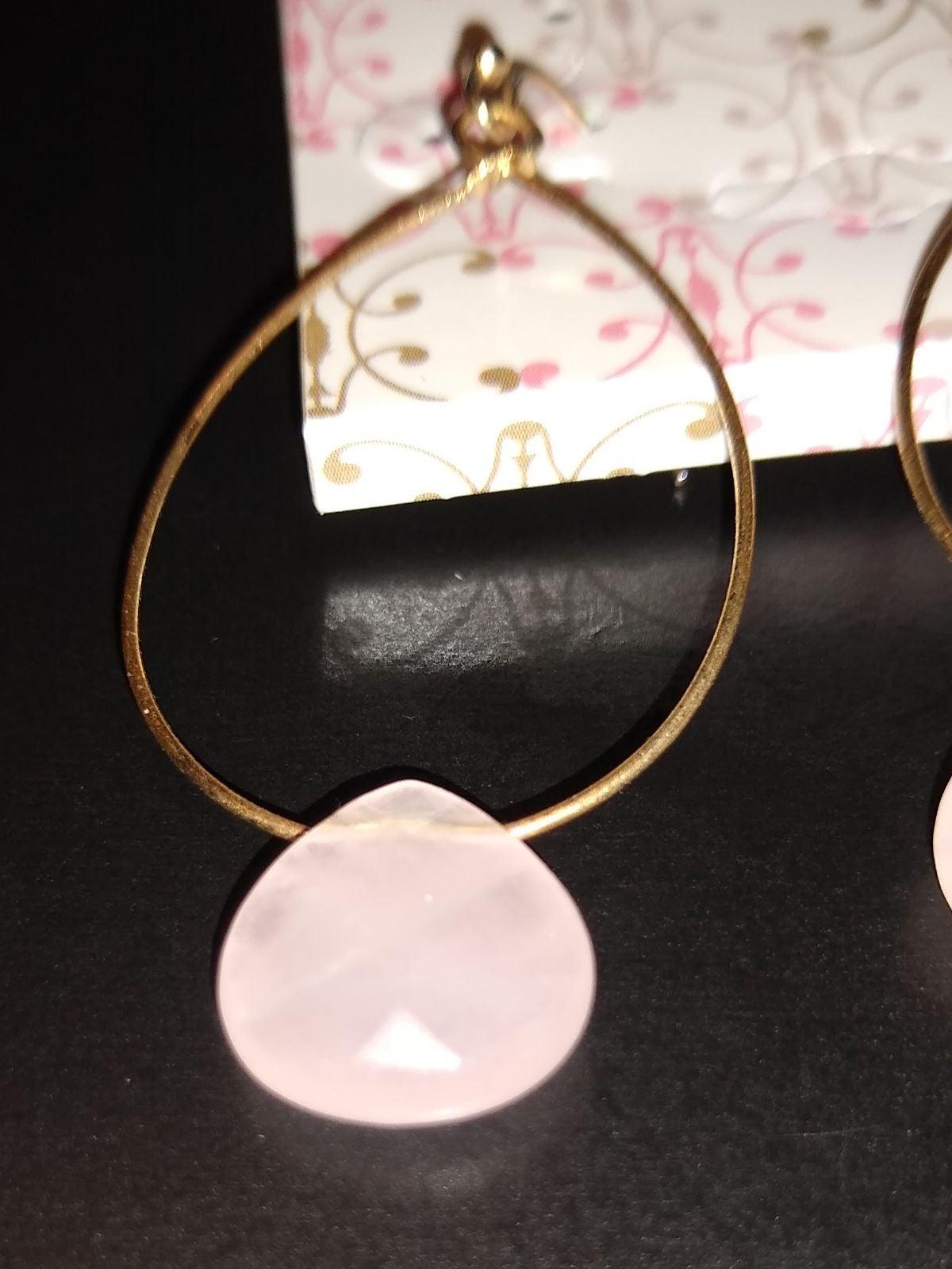 Hoop with crystal Dangle earrings