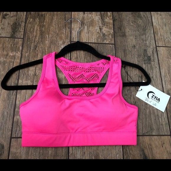 Zyia hot pink bomber bra L