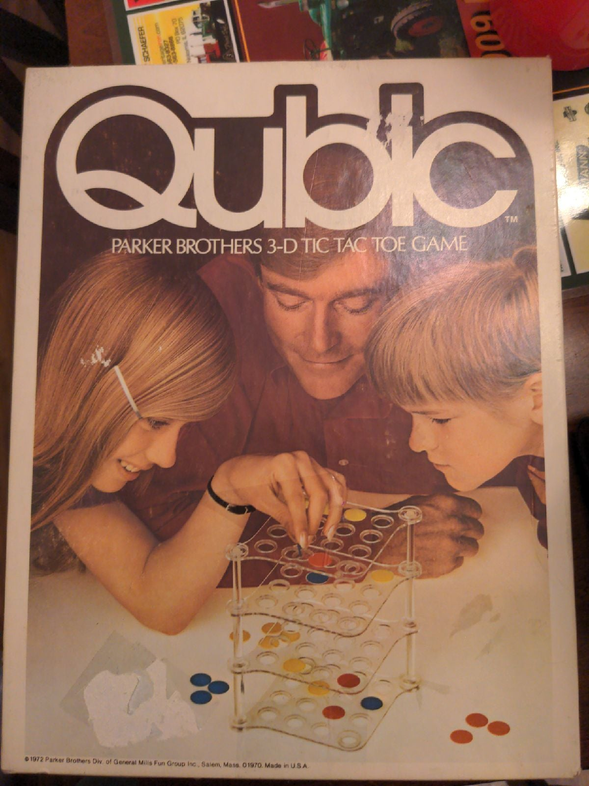 1972 qubic parker brothers 3d tic tac to