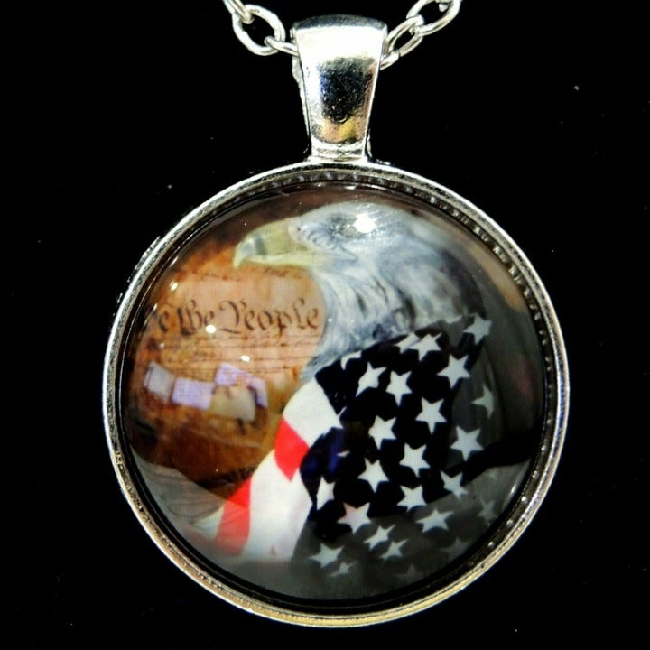 Patriotic Bald Eagle Design 13 Neckalce