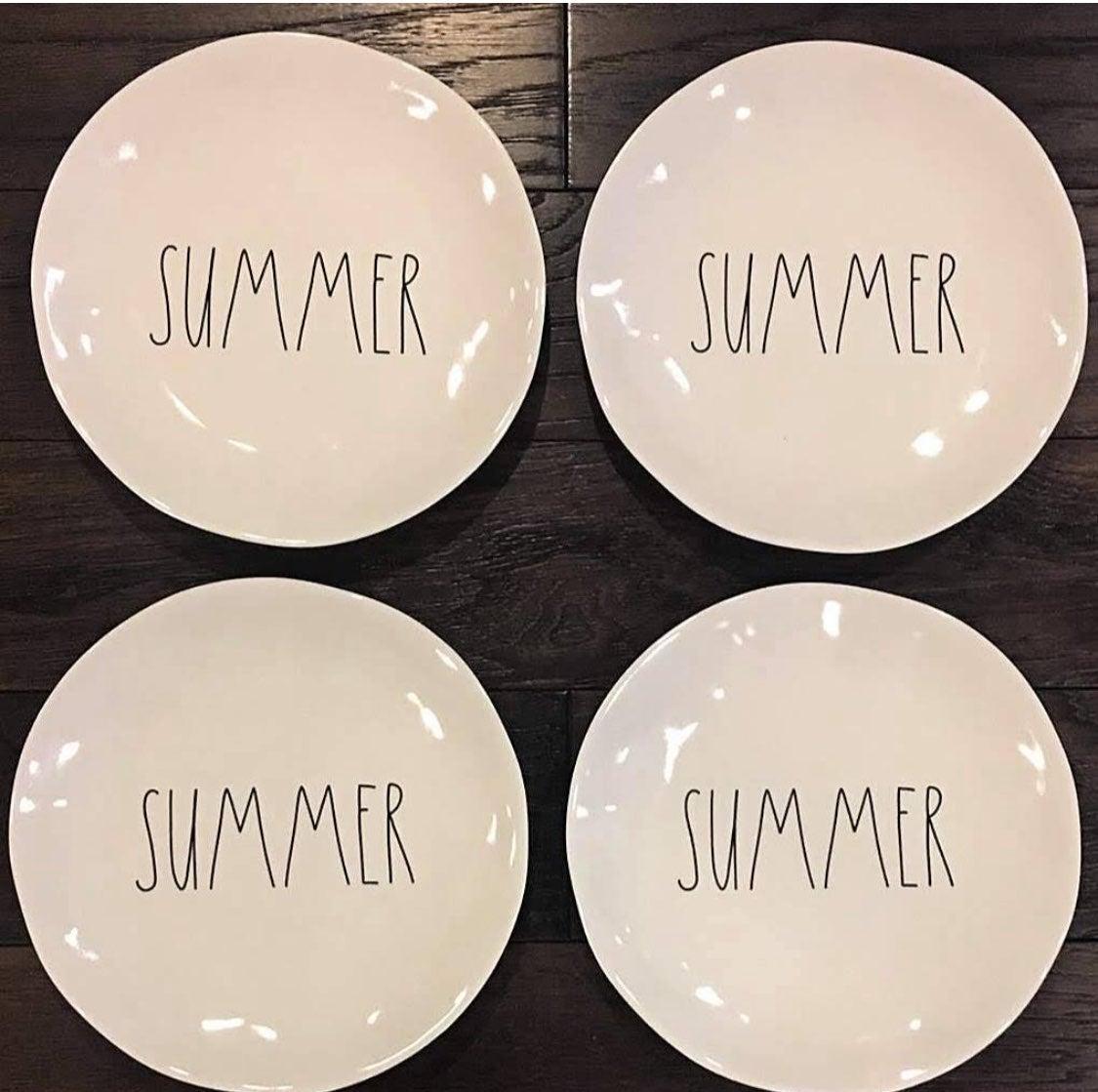 Rae dunn melamine plates bowls bundle