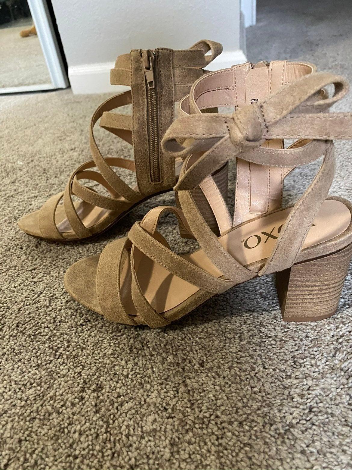 XOXO nude sandals