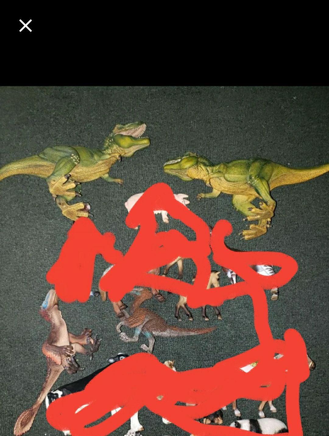 Lot of schleich animal figures 4 Dinosau