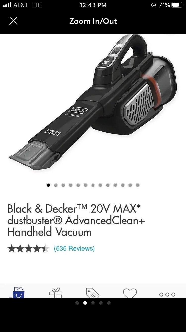 Black & Decker Dustbuster Hand Vacuum