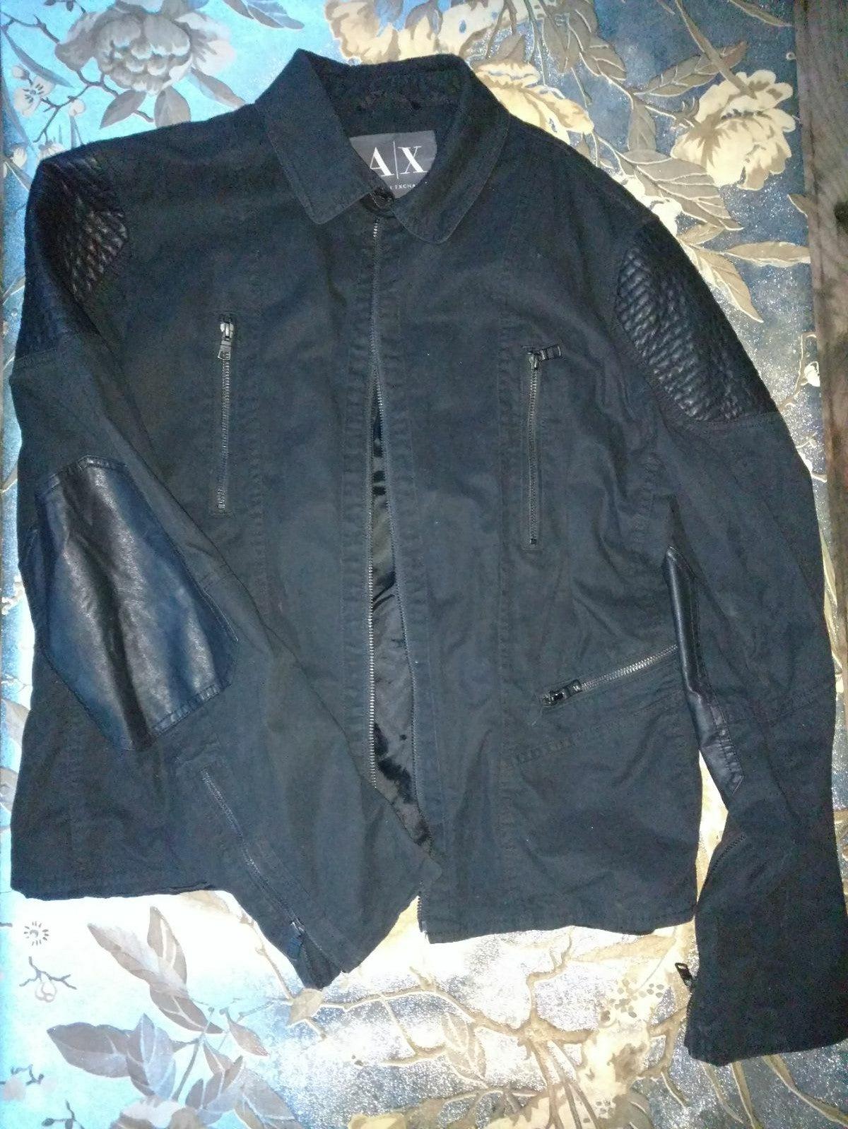 Armani Exchange mens moto jacket