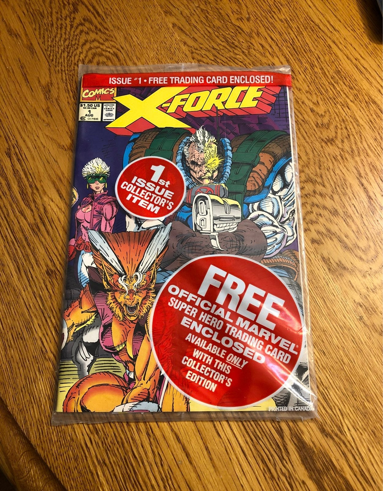 X-Force Marvel #1 Issue w Trading Card