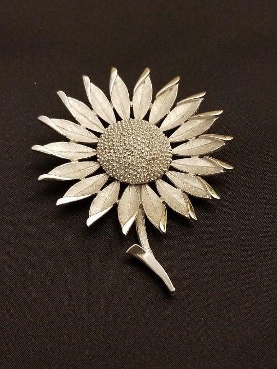 Trifari Sunflower Brooch Crown