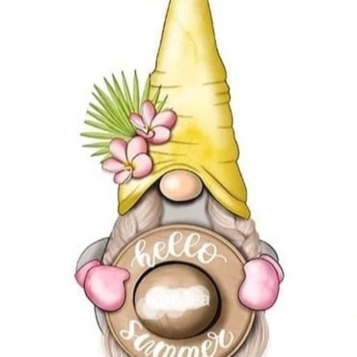 Girl Gnome with Hat metal cutting die