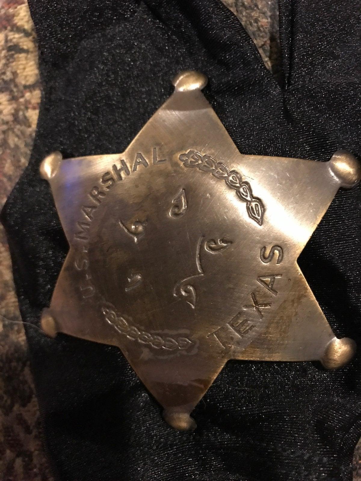 TEXAS U. S. Marshal Badge Pin