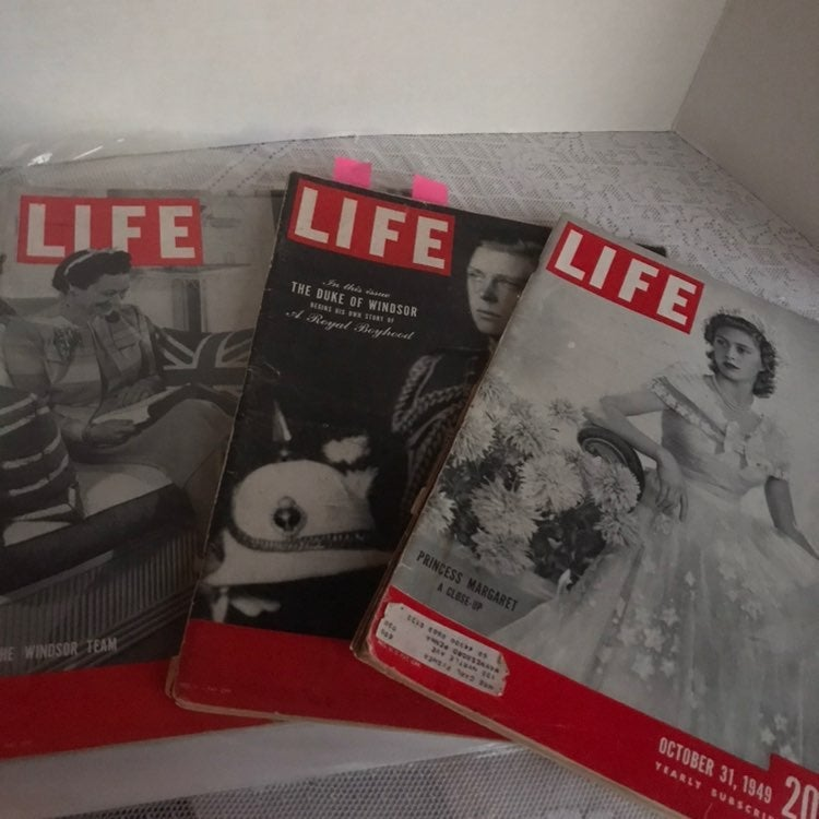 1940's Life Magazines Royal Family