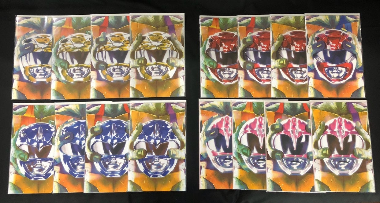 MMPR/TMNT crossover helmet covers