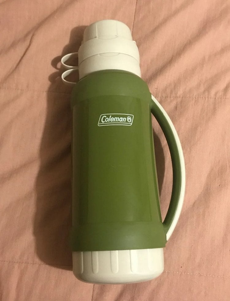 Large Coleman thermos with cups