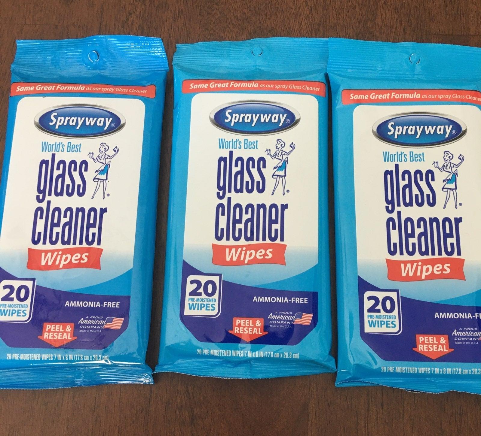Sprayway Glass wipes bundle