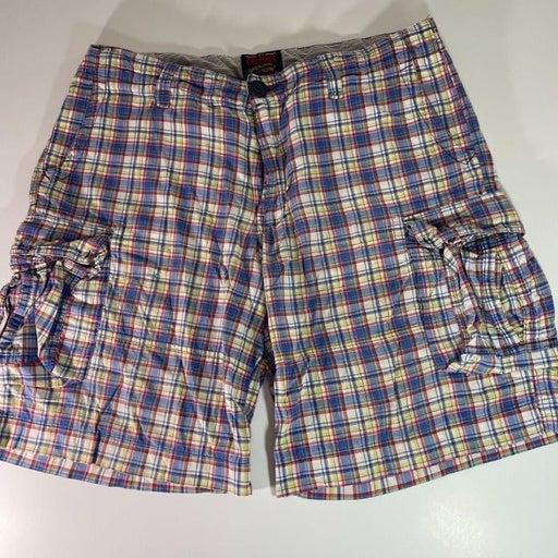Cremieux Men's Cargo shorts Plaid Size 36