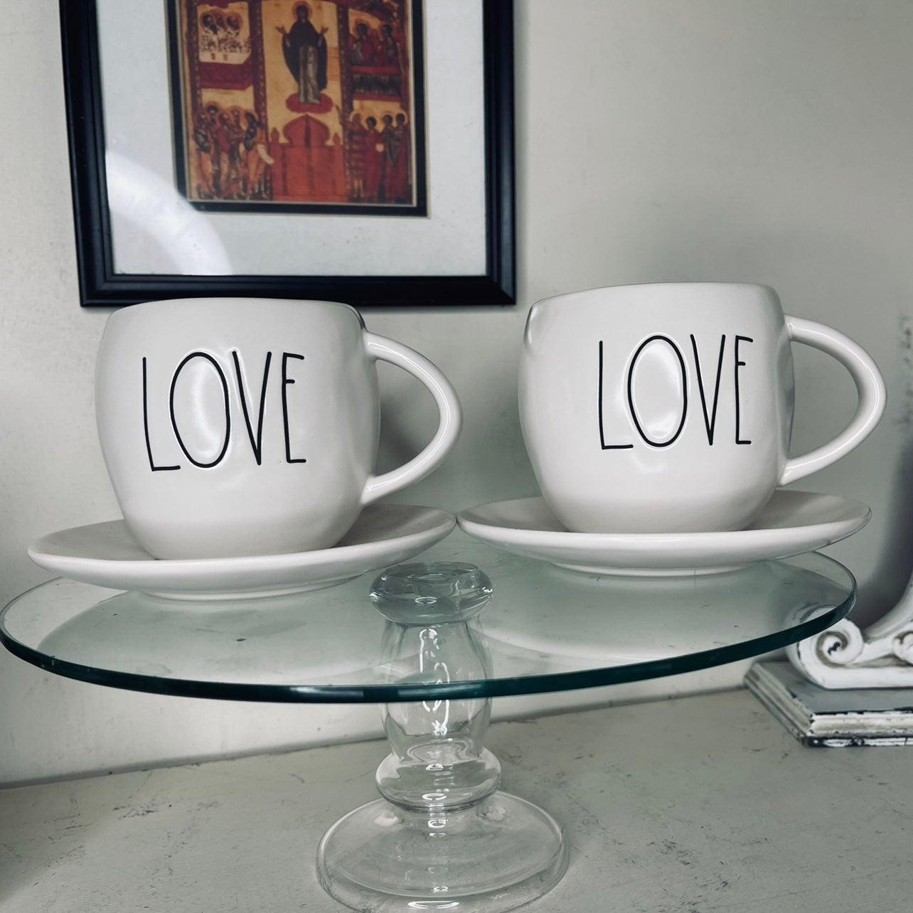 Rae Dunn LOVE Teacup and saucer set