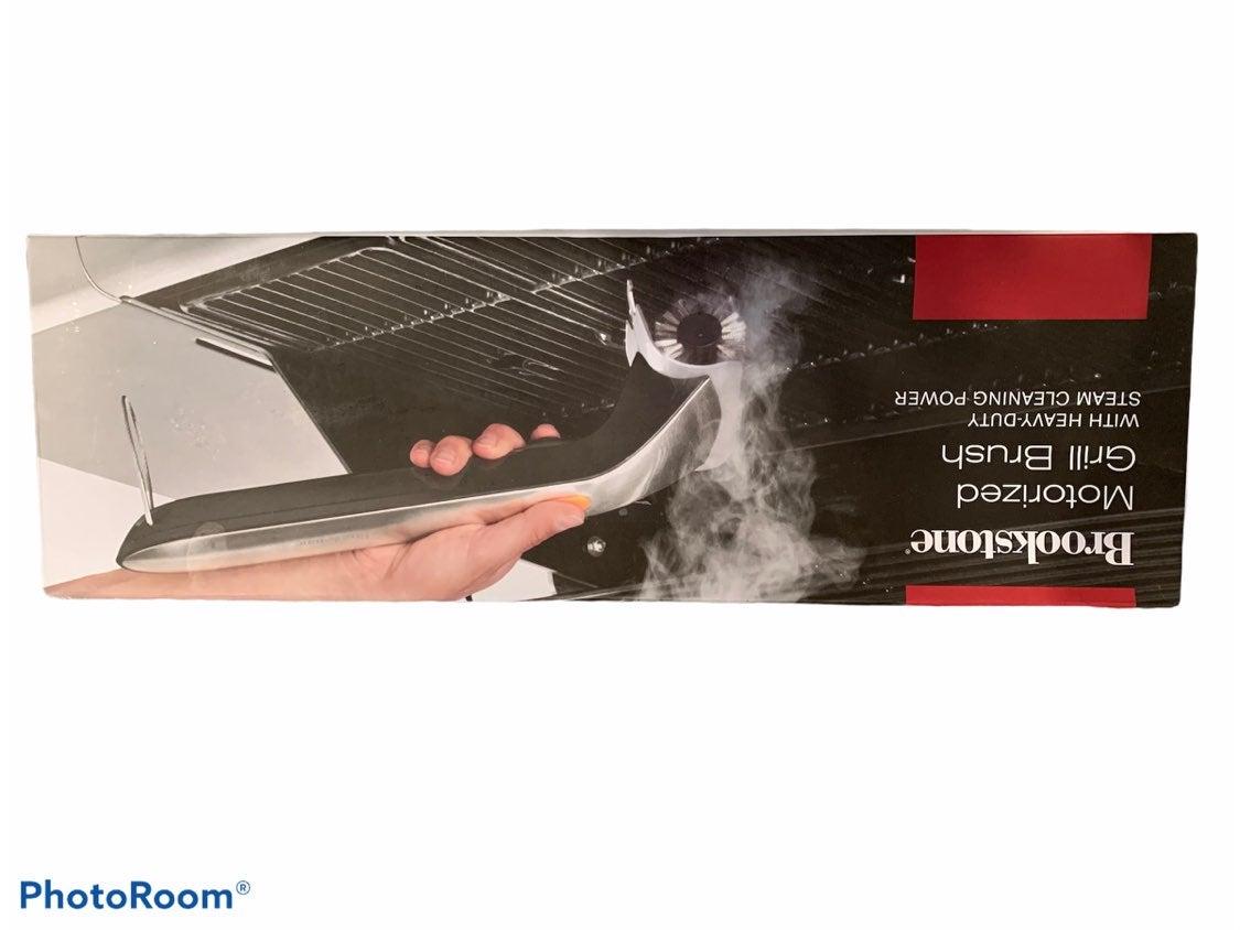 Brookstone motorized grill brush NEW