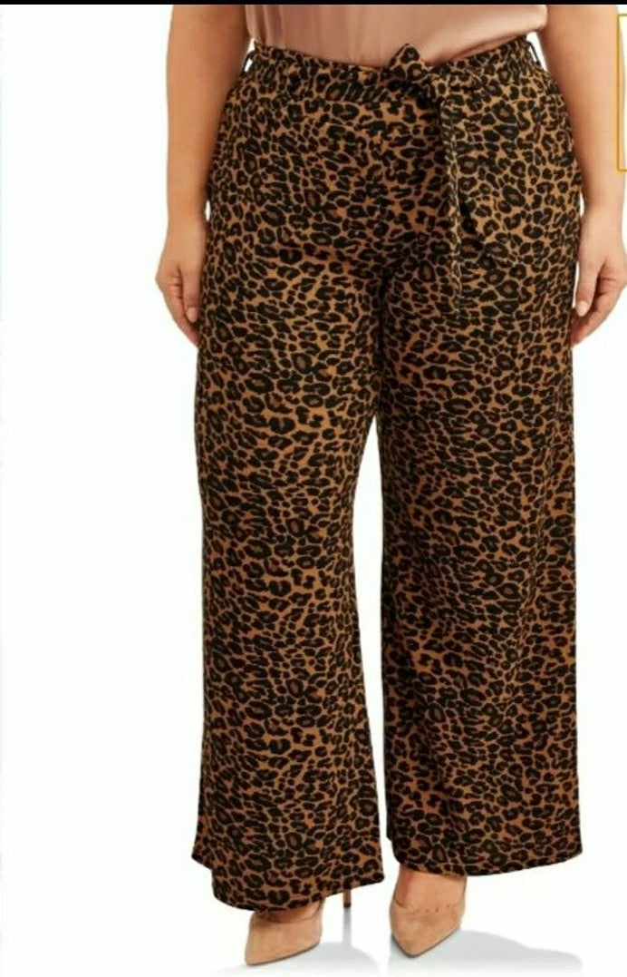 Terra&Sky ts wide leg knit pants 3X