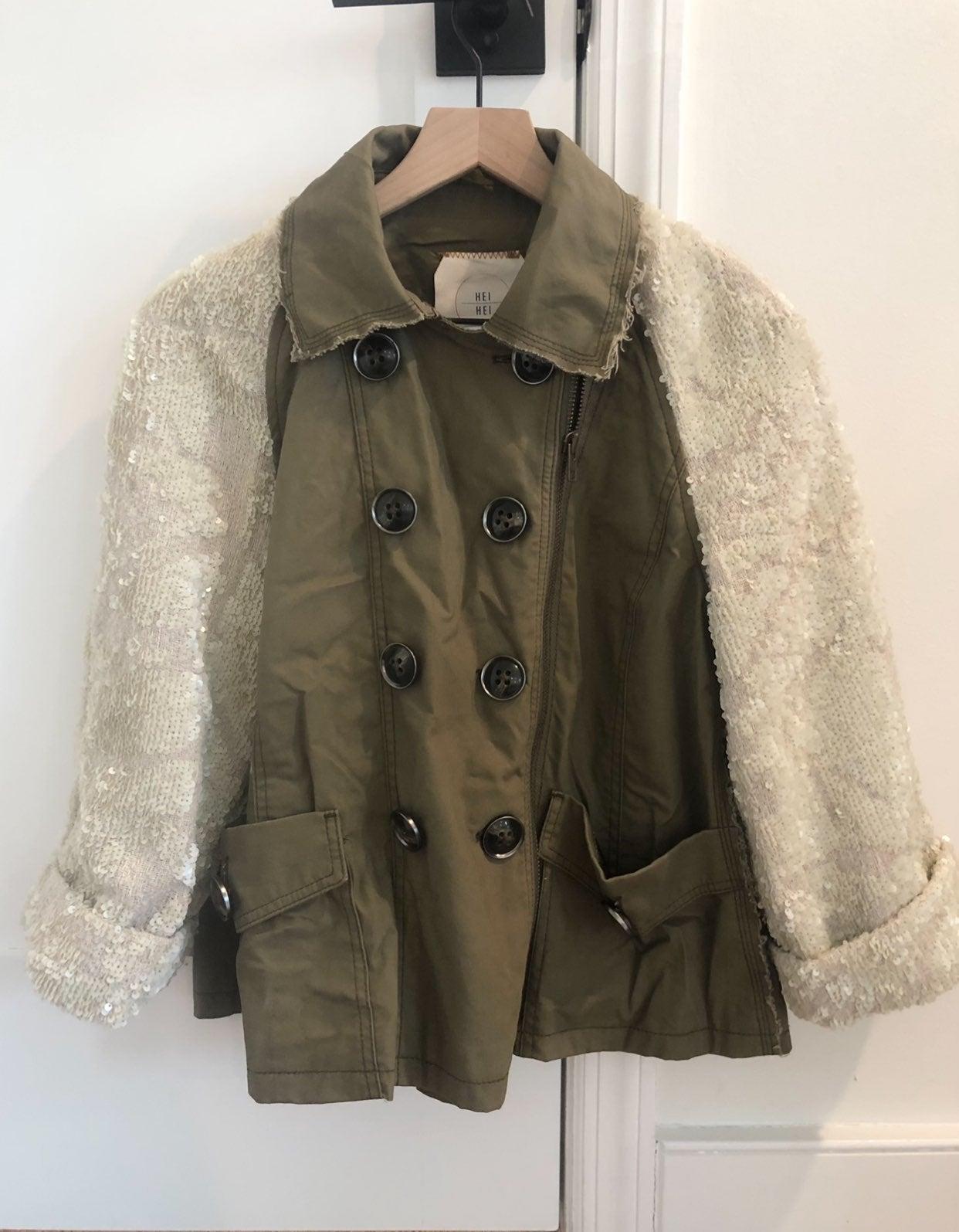 Anthropologie Sequin Sleeve Jacket