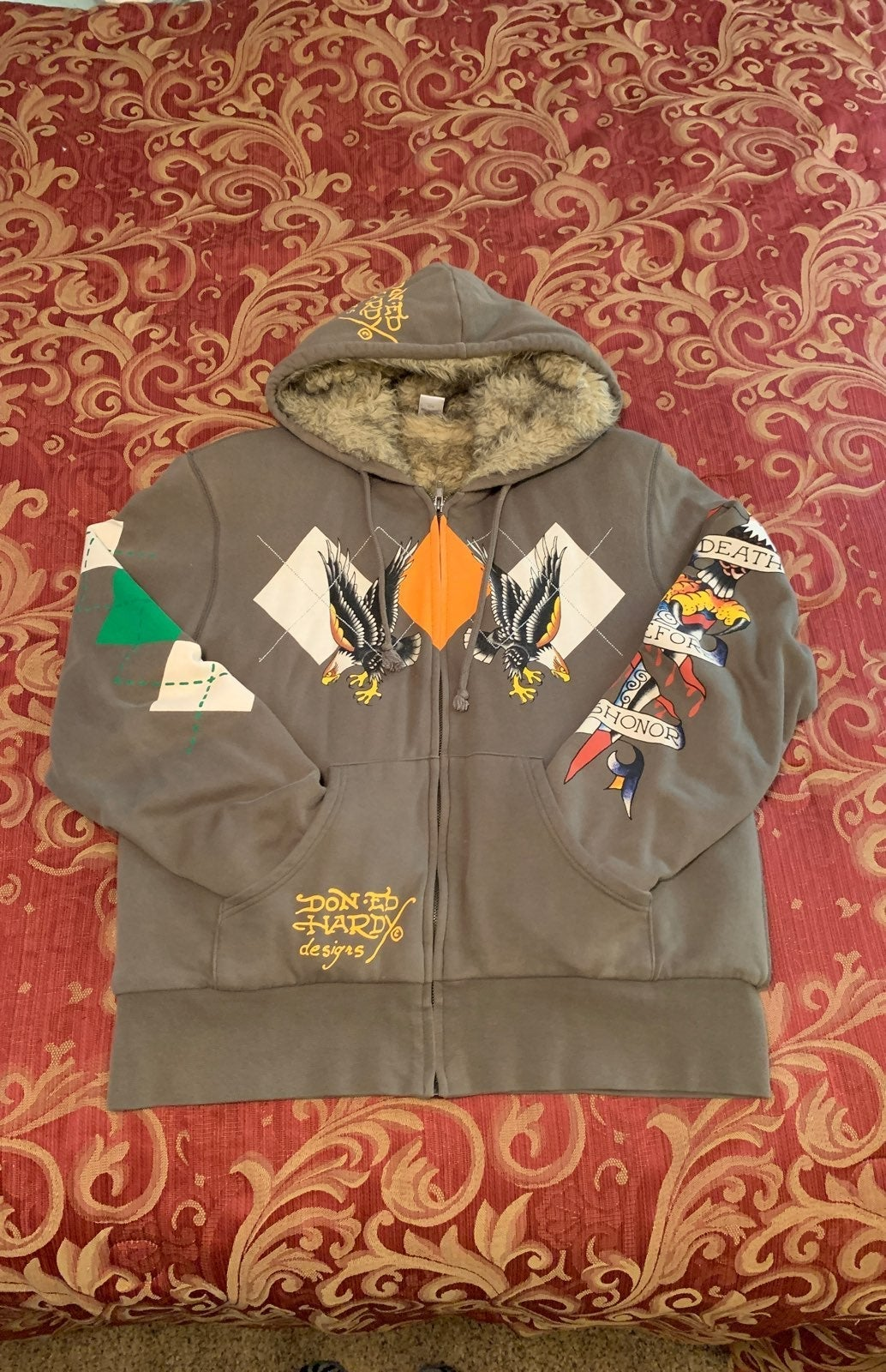Don-Ed Hardy Designs fleece jacket