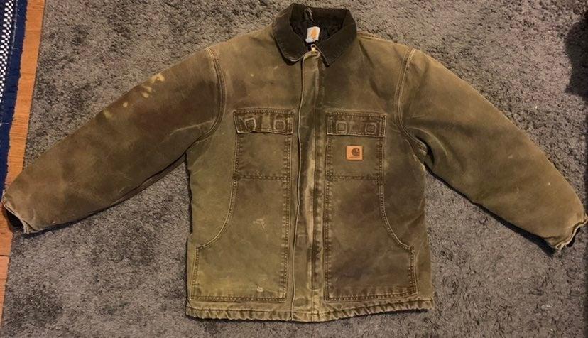 Vintage Men's Carhartt Jacket Distressed