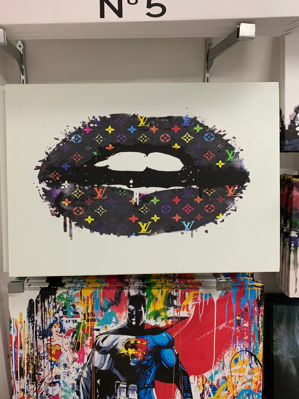 Designer Lips Pop Art Canvas Picture 40