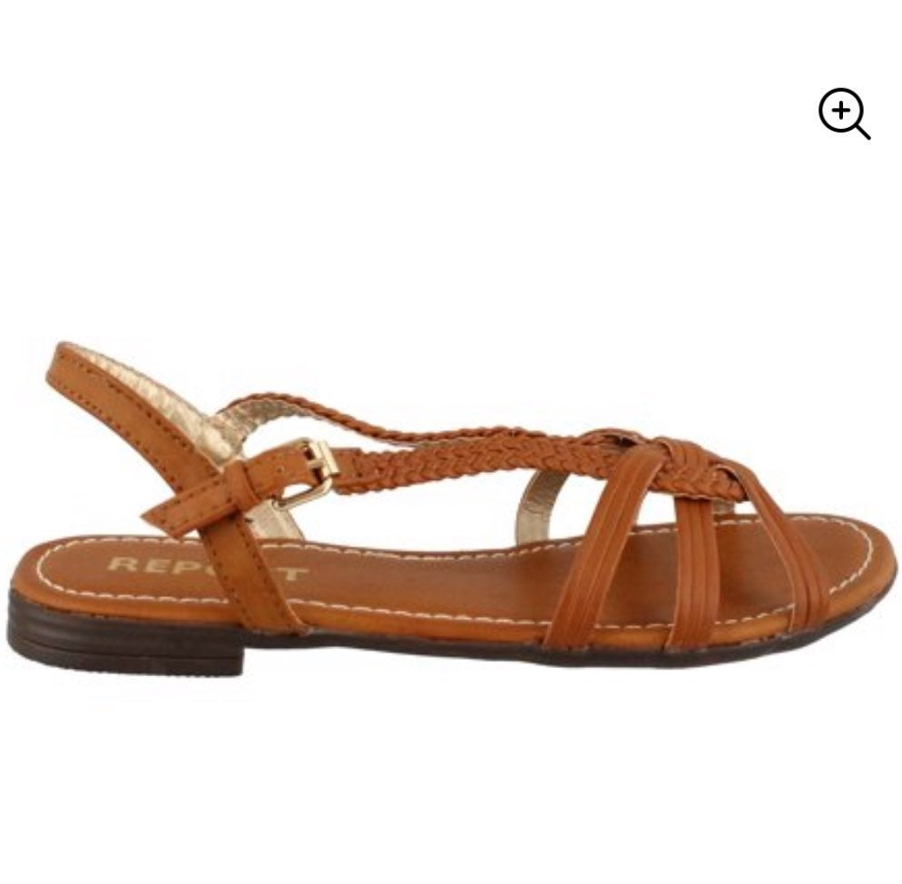 Report Brown Strappy Sandals Size 7