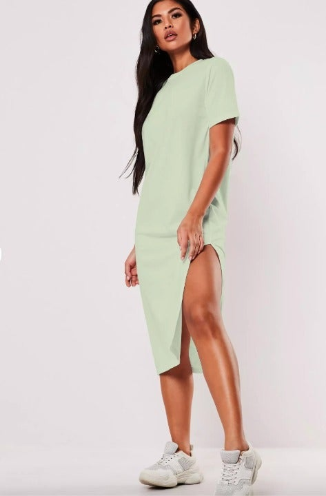 basic midi t shirt dress