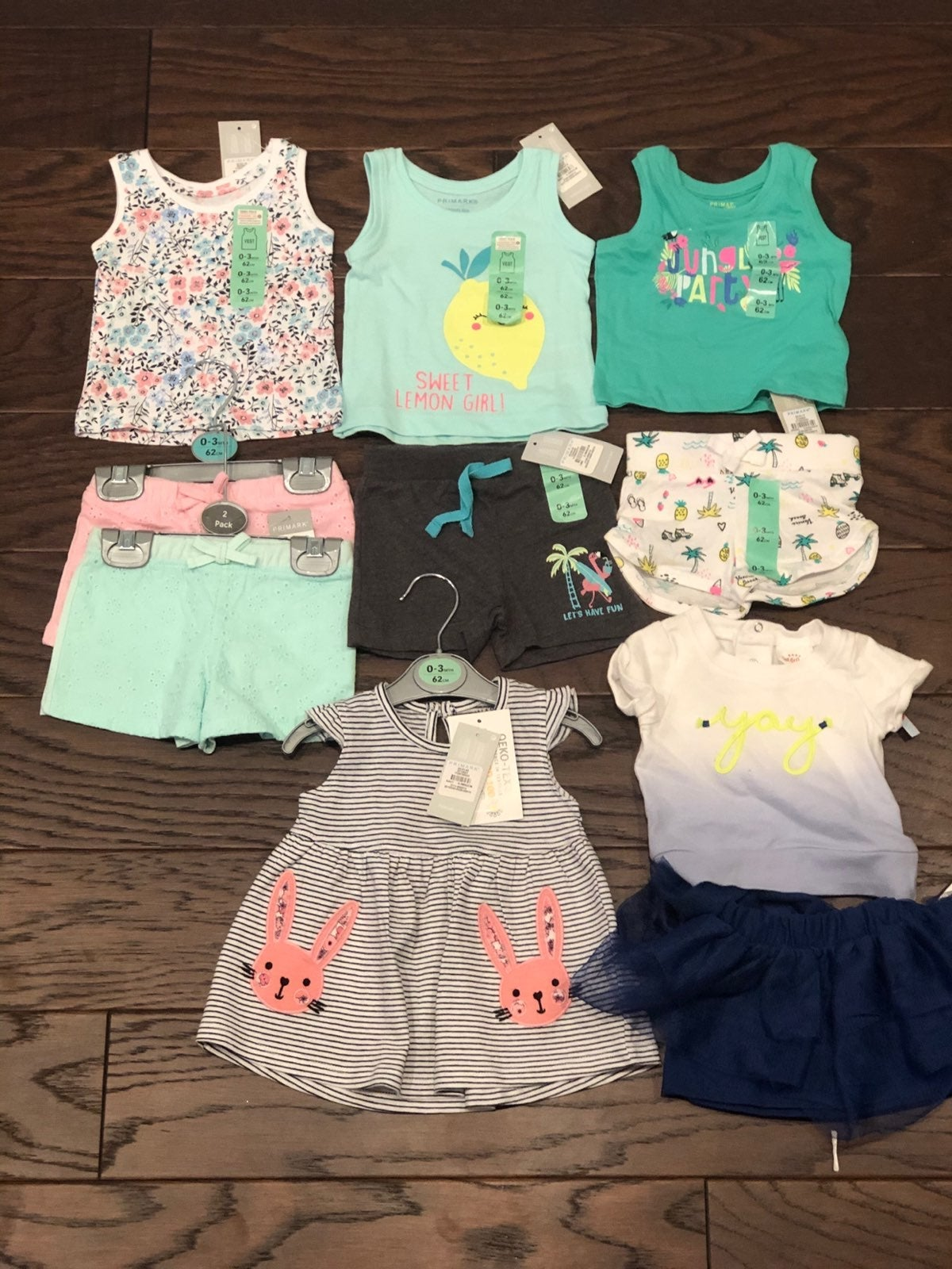 Baby girl 0-3 month bundle all nwt