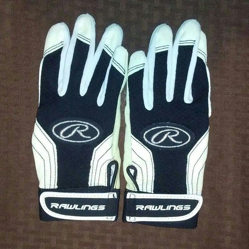 Rawlings White Batting Gloves