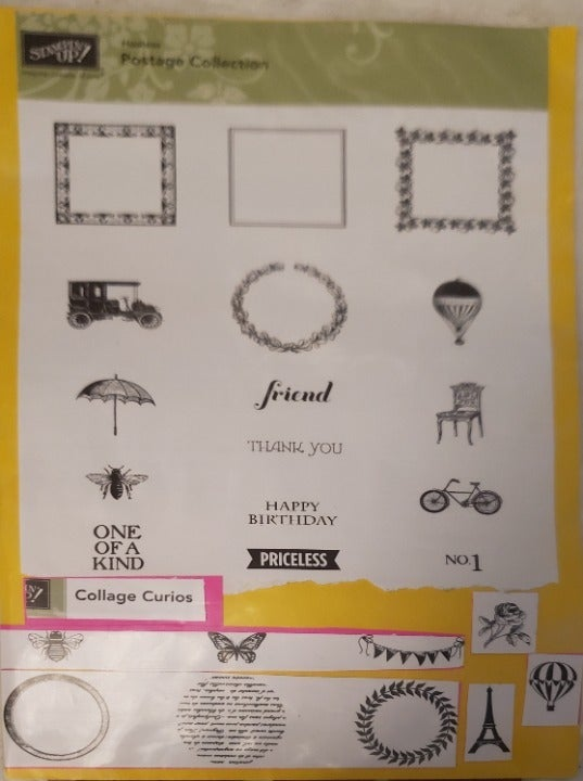Hostess Postage Collection  & Collage Cu