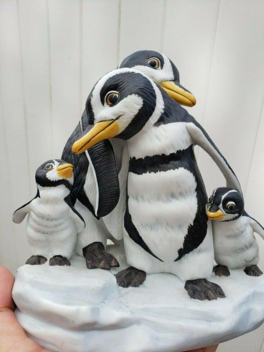 Franklin Mint ~ WE FOUR ~ Penguin Handpa