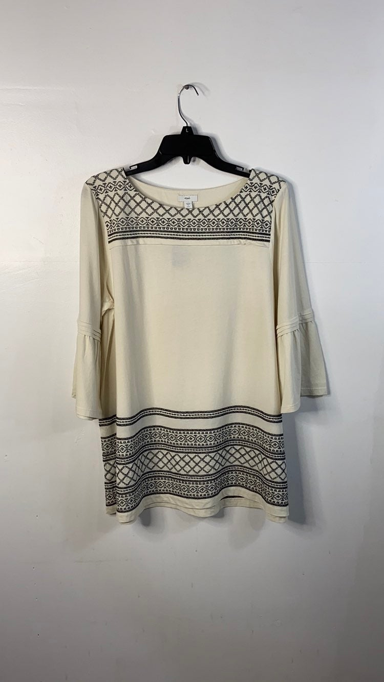 J.Jill Embroidered Tunic with Bell Sleev