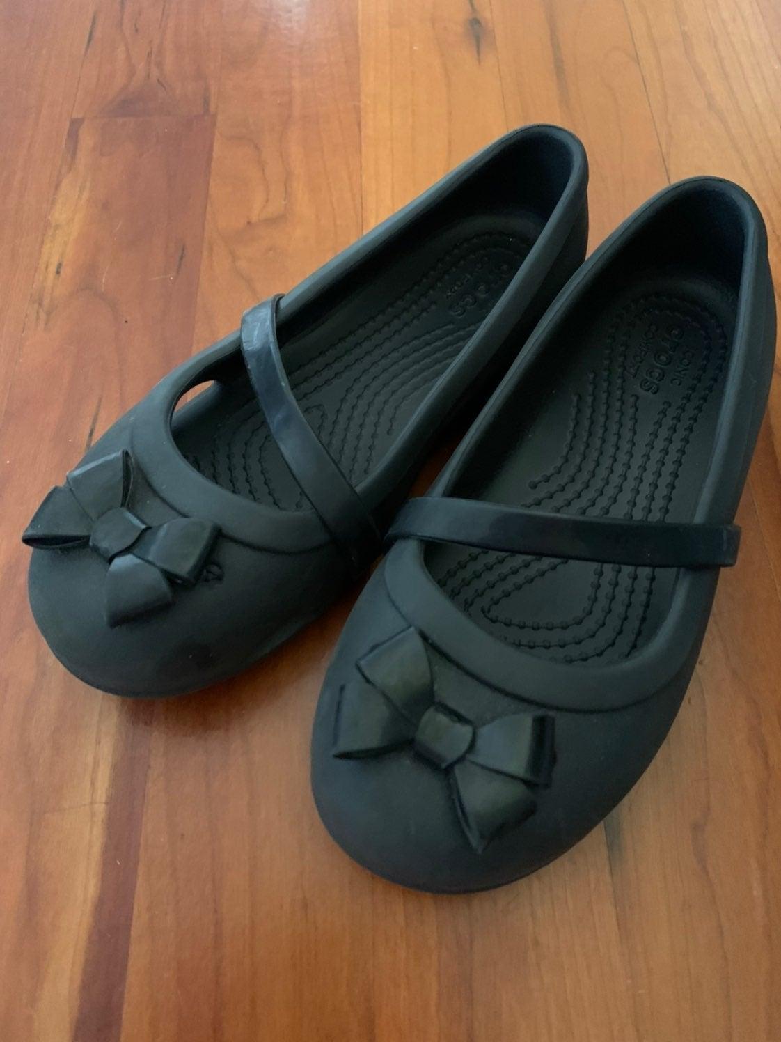 Crocs mary jane black sz 12