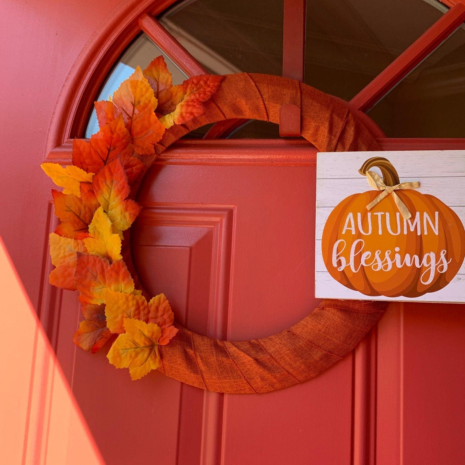 "Fall / Autumn Wreath ""Autumn Blessings"""
