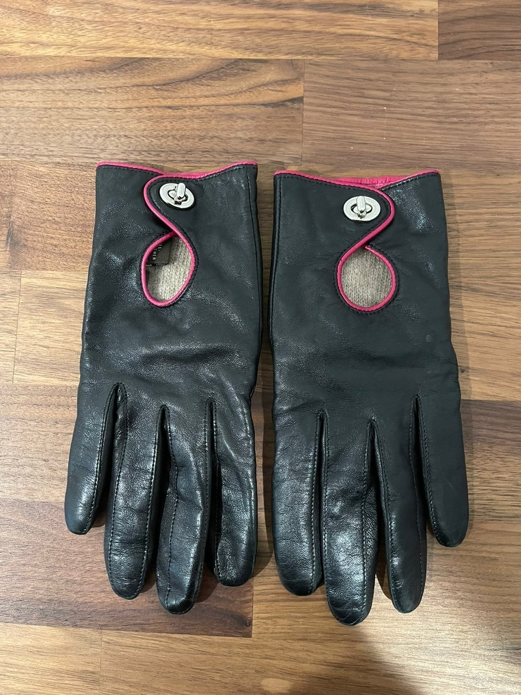 Coach Leather Driving Gloves SZ 7
