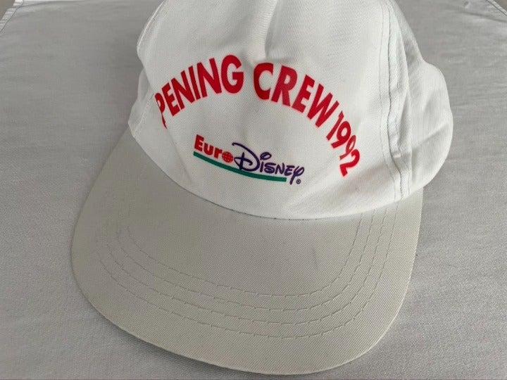 Vintage 1992 EuroDisney Opening Crew Cap